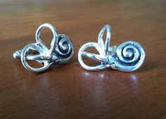 inner ear cufflinks $240 - Heh...if the real ones don't work, embarrass them into functioning!  LOL