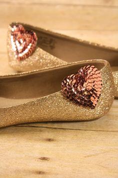 Blush pink heart shoe clips