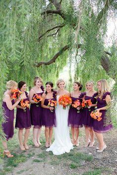 purple and orange!