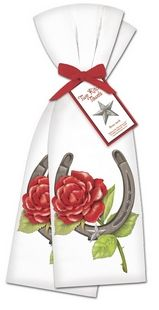 Kentucky Derby Rose Kitchen Towels Towels (set of 2)