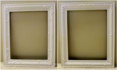 ornat frame, vintagestyl frame, old picture frames, old frames, puff paint