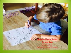 Letters Vs. Words from The Reading Corner on TeachersNotebook.com -  (13 pages)  - This package has 10 �Find the�� Task Cards with letters and words on it.