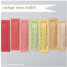 vintage train tickets - Google Search