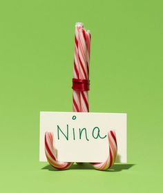 Candy Cane Place Card Holders