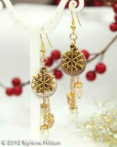 The Mixed Metal Snowflake Earrings look as though they've come straight from a winter fairytale, and when you're wearing these DIY earrings this holiday season, you'll be every bit as enchanting. With earrings like these, you'll be glad to let it snow. This earrings pattern uses snowflake and holiday charms for the focal piece, while adding chain and crystal for some sparkle
