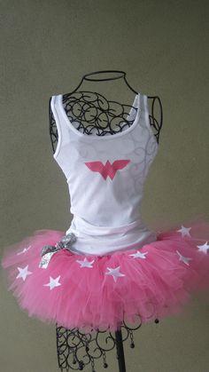 Pink Wonder Woman Tutu Costume