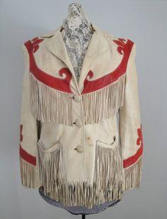 Vintage 1940s 1930s Western Leather Fringe by littlestarsvintage, $95.00
