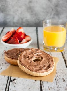 Nutella Cream Cheese Bagels from @Angie Wimberly McGowan (Eclectic Recipes)