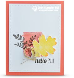 Stampin Up  For All Things Fall Beautiful card using Rock and Roll technique