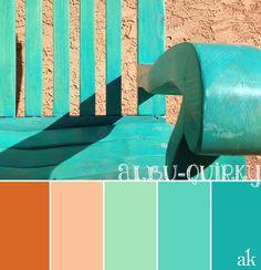Bright teal color palette for decor inspiration