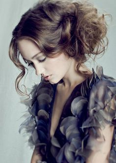 hairstyles, red fashion, bridesmaid hair, art, strand, dreami updo, inspir, messy buns, beauti