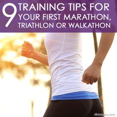 Running your first marathon can be scary!  These Tips for Your First Marathon, Triathlon, or Walkathon are SUPER helpful! training tips, marathon