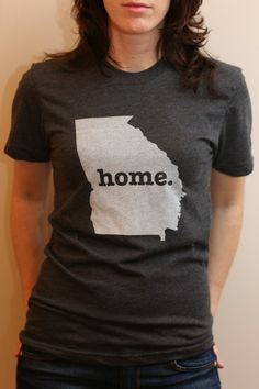 The #Georgia Home T. Show a little state pride and help raise money for multiple sclerosis research. (http://www.thehomet.com/georgia-home-t-shirt)