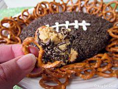 Peanut butter football dip// make with #SunButter!