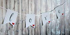 free printable valentine banner! printabl valentin, free printabl, valentin banner
