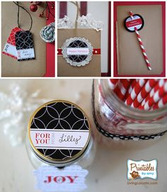 Holiday Gift Tags - Party Printables - As Seen in Matthew Mead Magazine