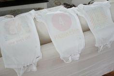 DIY monthly baby onesies #diy #target #baby