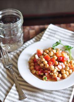 mediterranean chickpea, food, salmon patti, dairy free, summer salad, gluten free, salads, chickpeas, chickpea salad
