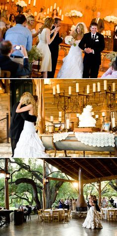 Old Glory Ranch- Wow would be a great location, have the ceremony under the oak trees, and the reception would still be open, but it would have a floor and roof in case of rain!