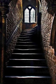 stairs, castle, and