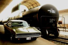 1968 Dodge Charger R/T & Tank Car by 1968 Dodge Charger R/T, via Flickr