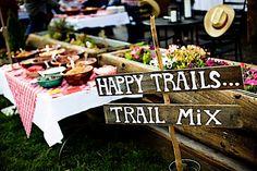 handmade | trail mix favors