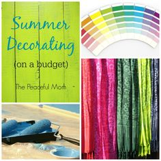 Summer Decorating on a Budget 2 - The Peaceful Mom  #summer  #savemoney  #homedecor
