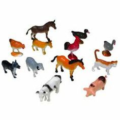 2 and a Half Inch Assorted Plastic Farm Animals from Windy City Novelties