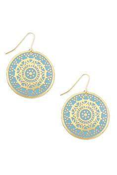 medallion earring