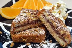 Gluten Free Pistachio Crusted French Toast Stuffed with Nutella