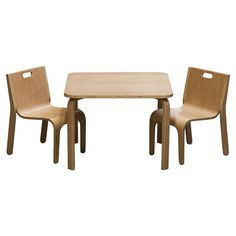 You should see this York 3 Piece Table & Chair Set in Natural on Daily Sales!