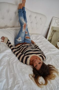 Comfy Sweaters & Ripped Jeans