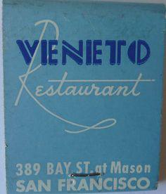 VENITO RESTAURANT SAN FRANCISCO CALIF