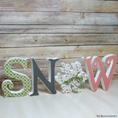 The Wood Connection - Snow Letter Set, $12.95 (http://thewoodconnection.com/snow-letter-set/)