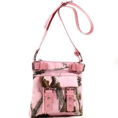Realtree Pink Cross Body Messenger Bag, Womens Realtree Pink Camo Purse Shoulder Bag  Price : $39.95 http://www.camochique.com/Realtree-Pink-Messenger-Womens-Shoulder/dp/B00E3NBXMO