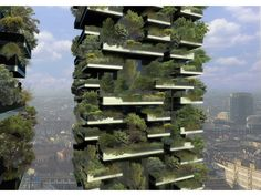 """This is neat!  """"The World's first Vertical Forest (Bosco Verticale) is being currently constructed in Milan. Two residential towers of 110 and 76 meters height, that will host 900 trees apart from a wide range of shrubs and floral plants."""""""