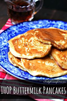 THE Best Pancake Recipe EVER! IHOP Buttermilk Pancakes Recipe #copycat #recipe #IHOP #budgetsavvydiva #pancakes via budgetsavvydiva.com