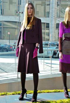 Burgundy, Burgundy & Burgundy!  Retro/ Chic/ Mono Tone Shades/ Trendy/ I Like.  RachelRoyFall-Winter2012.