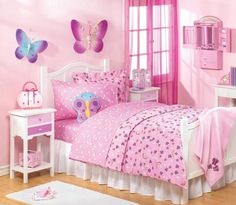 Girl Bedroom Designs Ideas with Bright Decoration Color