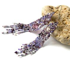 Lavender / Purple / Violet  freeform seed bead by Anabel27shop