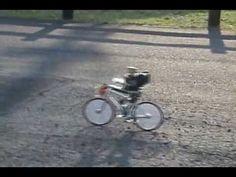 Little robot riding a little bike