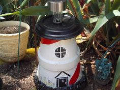 halloween craft, pot lighthous, outdoor craft, child crafts