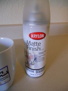The secret to Sharpie ceramic decoration: spray finish!