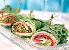 California wraps...my kind of lunch!