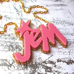 Jem and The Holograms necklace