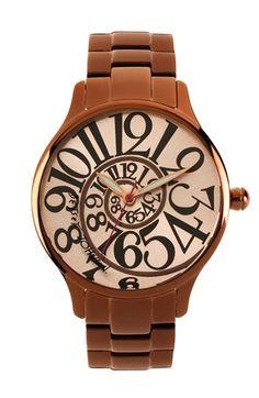 Swirl watch fashion watch, johnson watch, style, accessori, brown polish, betsey johnson, jewelri, polish watch, stainless steel