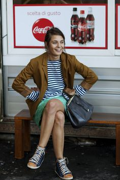 stripes and sneakers, a classic.