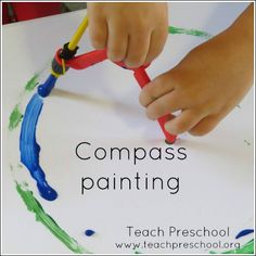 Compass painting by Teach Preschool
