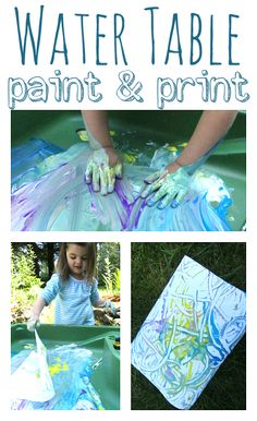 Water table sensory painting