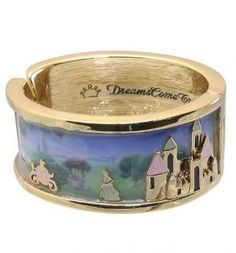 Cinderella Castle Scene Bangle From Disney Couture. Get this for me @Bridget Rumble.